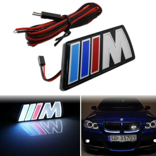 Motorsport power Front Hood Grille Emblem Badge LED Light o For BMW M Universal
