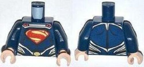 Lego Super Heroes Minifigure body Torso Superman DC HERO Minifig Part 76002