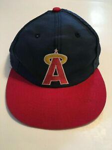 Details about Vintage California Angels Blue Red Snapback Mesh Baseball  Trucker Hat Cap MLB
