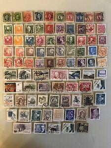 SWEDEN-Sverige-Early-Estate-Collection-Lot-Set-Of-86-Used-Postage-Stamps-GS