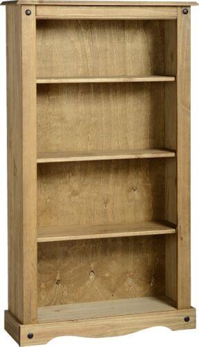 Solid Pine Medium Bookcase W83.5cm x D29cm x H150cm CORONA