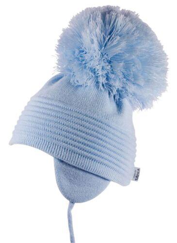 Diseñador sueco satila Bebé Niño//Chicas POM POM Sombrero del Invierno Blanco//Rosa//Azul Millie