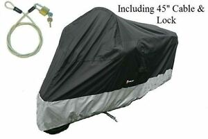 Motorcycle-Cover-Fit-Honda-Gold-Wing-F6B-Bike-w-cable-amp-lock-New-XXL