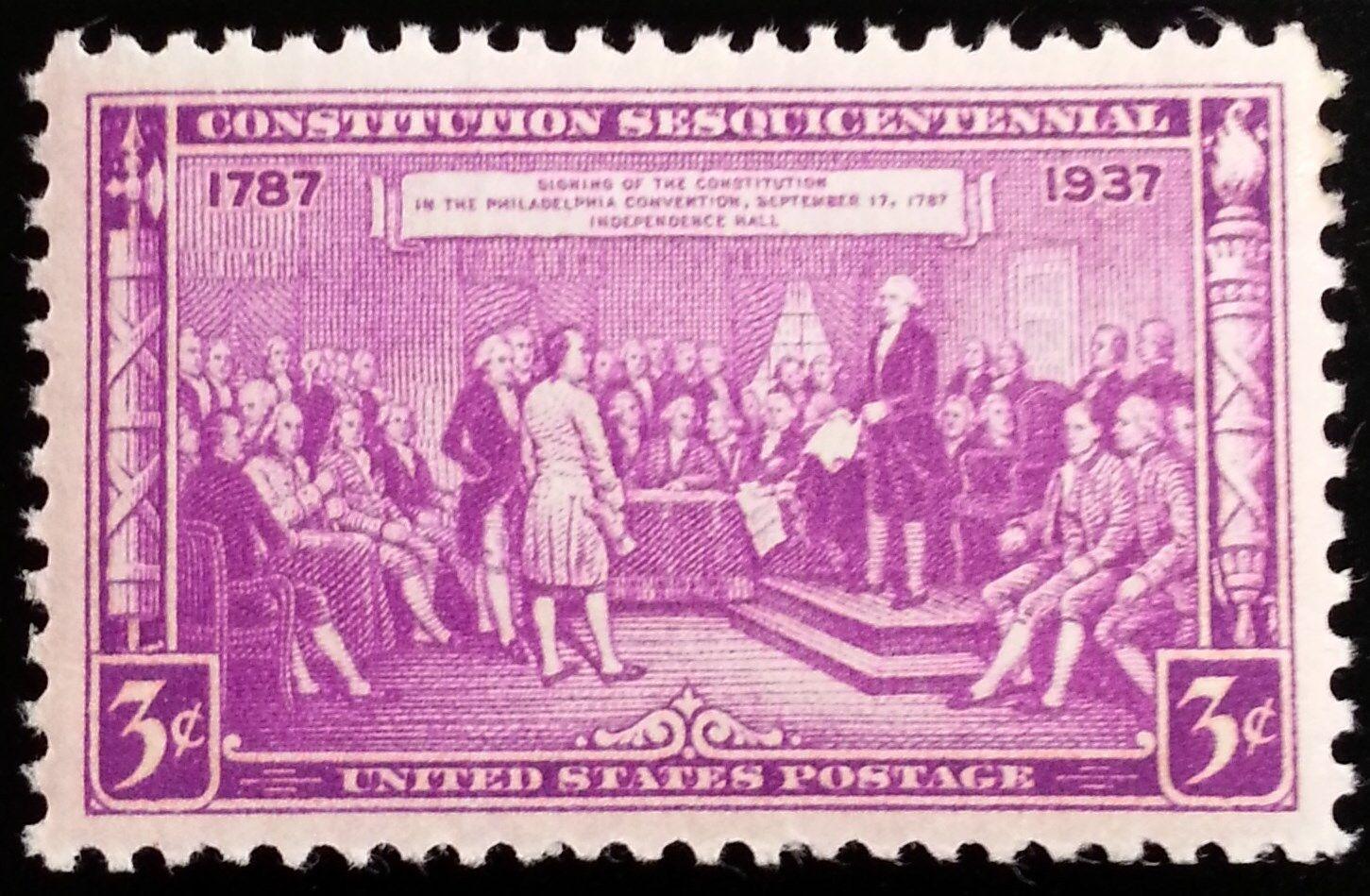1937 3c Constitution Signing, 150th Anniversary Scott 7