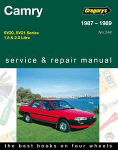 gregory s service repair manual toyota camry sv20 sv21 1987 1989 rh ebay com au 1999 Toyota Camry 2012 Toyota Camry