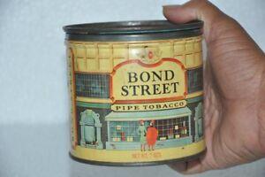 Vintage-Bond-Calle-Tubo-Tabaco-Anuncio-Litho-Estano-Caja-Ee-uu
