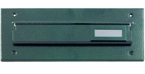Briefeinwurf Briefschlitz Mauerdurchwurf Briefkasten Briefklappe Antik Grün