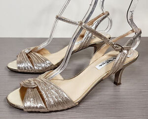 Nina-Camille-Two-Piece-Mid-Heel-Evening-Sandals-Gold-Womens-Size-9-M-39