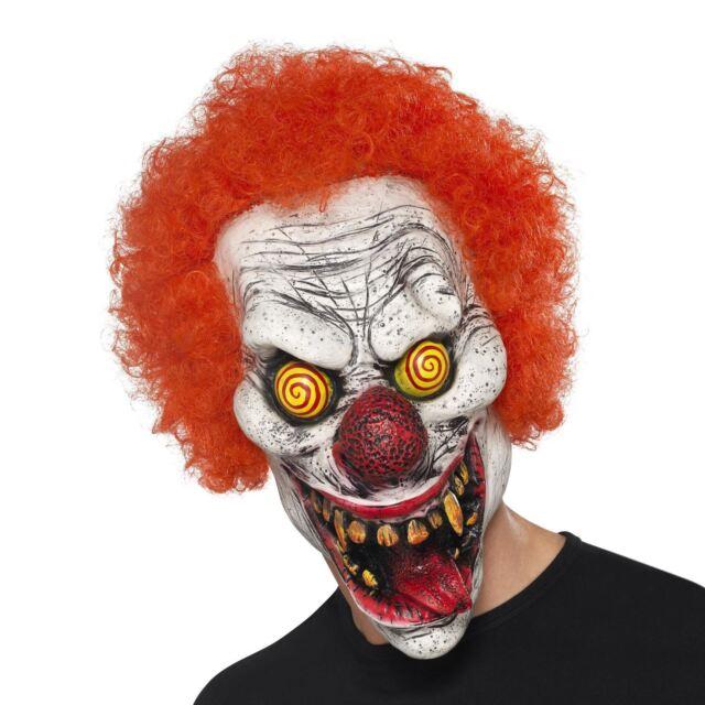 Siniestro Retorcido Freakshow Payaso Altillo Máscara Afro Pelo Halloween Disfraz