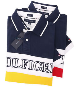Tommy-Hilfiger-Men-039-s-Short-Sleeve-Pique-Logo-Polo-Shirt-0-Free-Ship