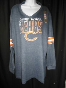 31eaad8a2 Chicago Bears Women's Plus Size V Neck Thermo Tee Shirt | eBay