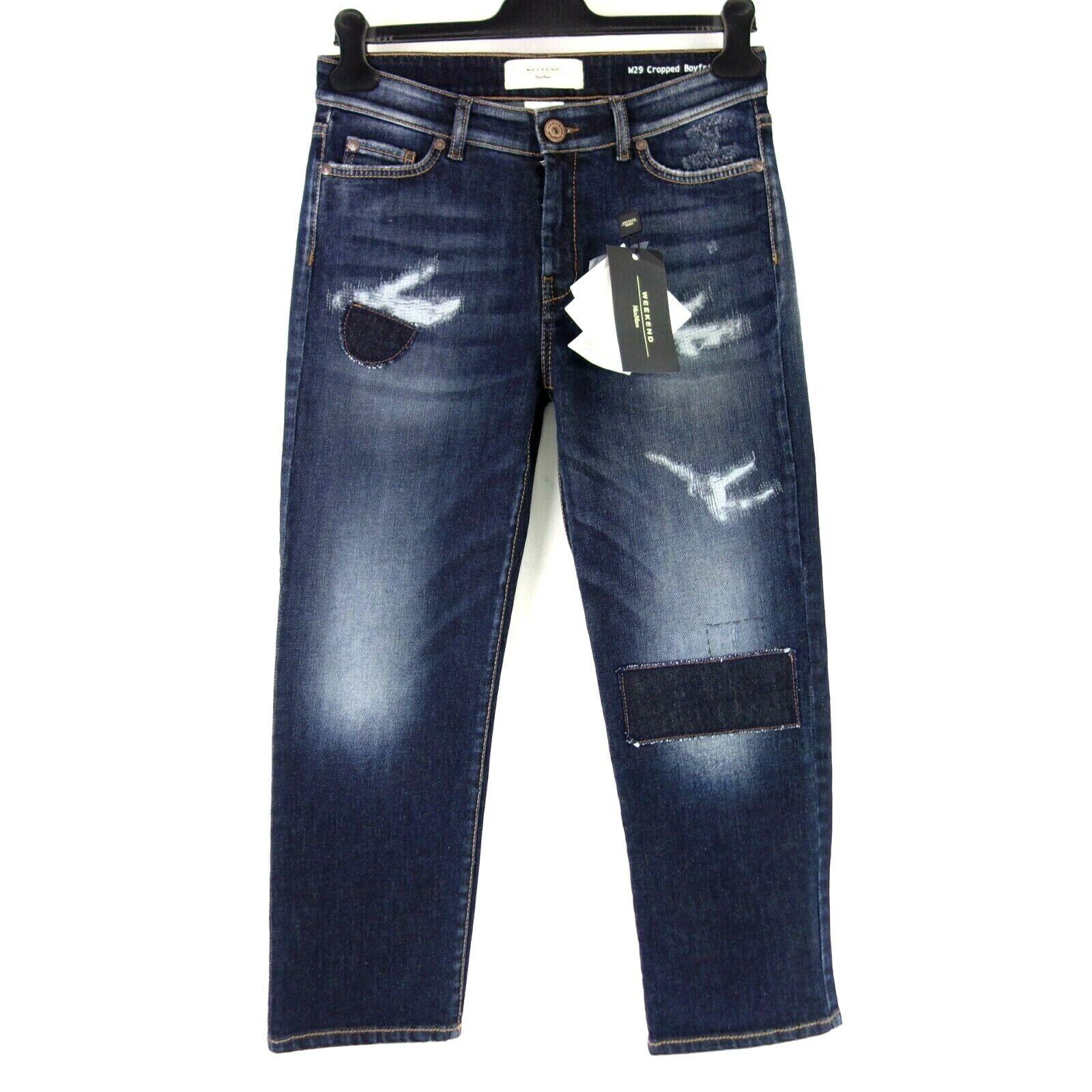 MAX MARA WEEKEND Damen Jeans Hose OSANNA 36 38 Blau Denim Boyfriend NP 169 NEU