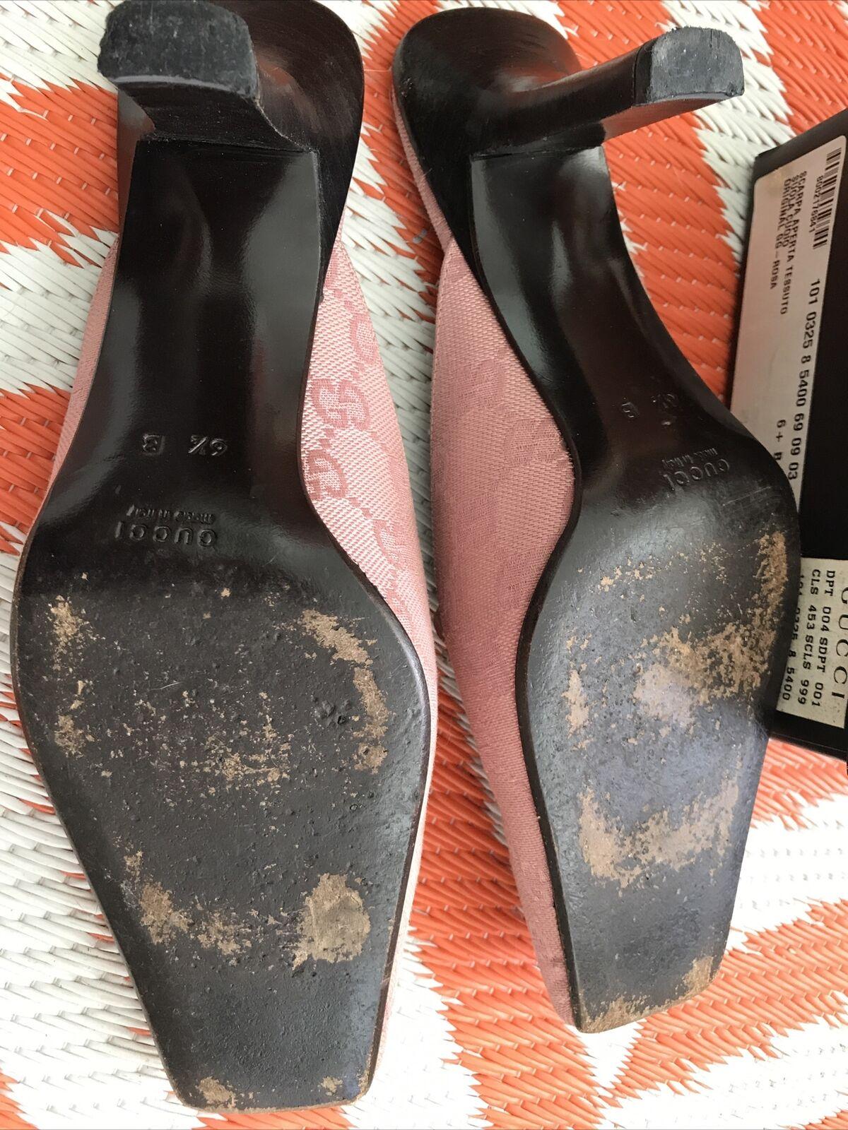 Vintage GUCCI GG Canvas Mule Classic Shoes Rosa W… - image 9