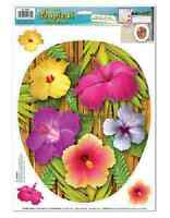 beistle 54364 tropical toilet topper peel n place pack of 12 Toys