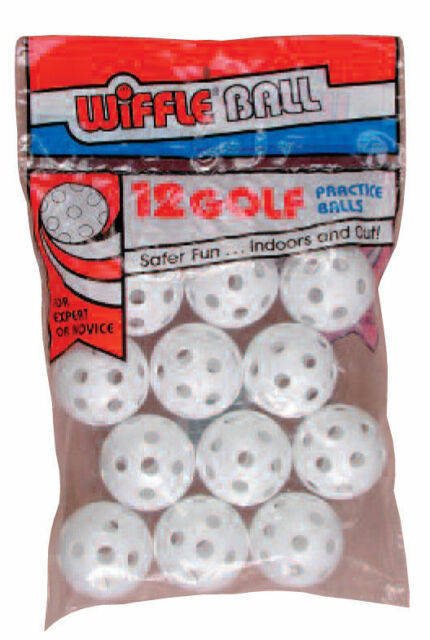12 Official WIFFLE® Plastic Practice Poly Golf Balls