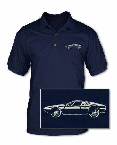 De Tomaso Mangusta 1967-1971 Polo Shirt Multiple Colors /& Sizes  Italian Car