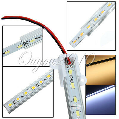 0.5M 50CM 12V 36 LED 5050/5630 SMD Hard Strip Bar Light Aluminum Rigid Pure/Warm