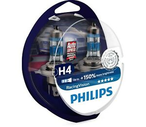 PHILIPS H4 ColorVision Blue Headlight Bulb 12V 60//55W P43t-38 12342CVPBS2 Twin