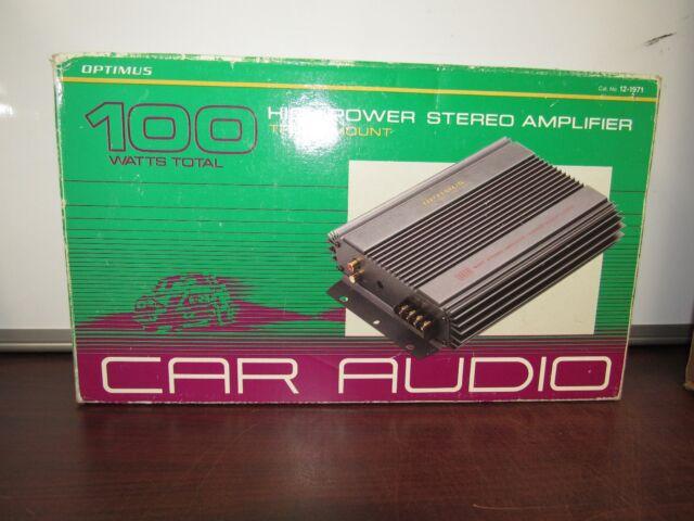 optimus high power stereo booster 40w under dash ebay rh ebay com