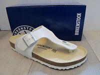 Birkenstock Ramses White Toe Post Leather Footbed Shoe Sandal