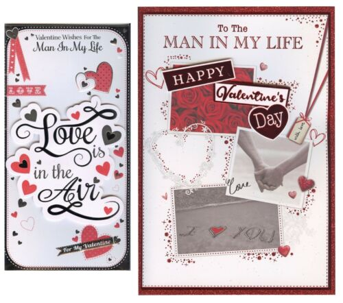 LARGER OR TALL TO THE MAN IN MY LIFE VALENTINE/'S DAY CARD 1ST P/&P GREETING CARD