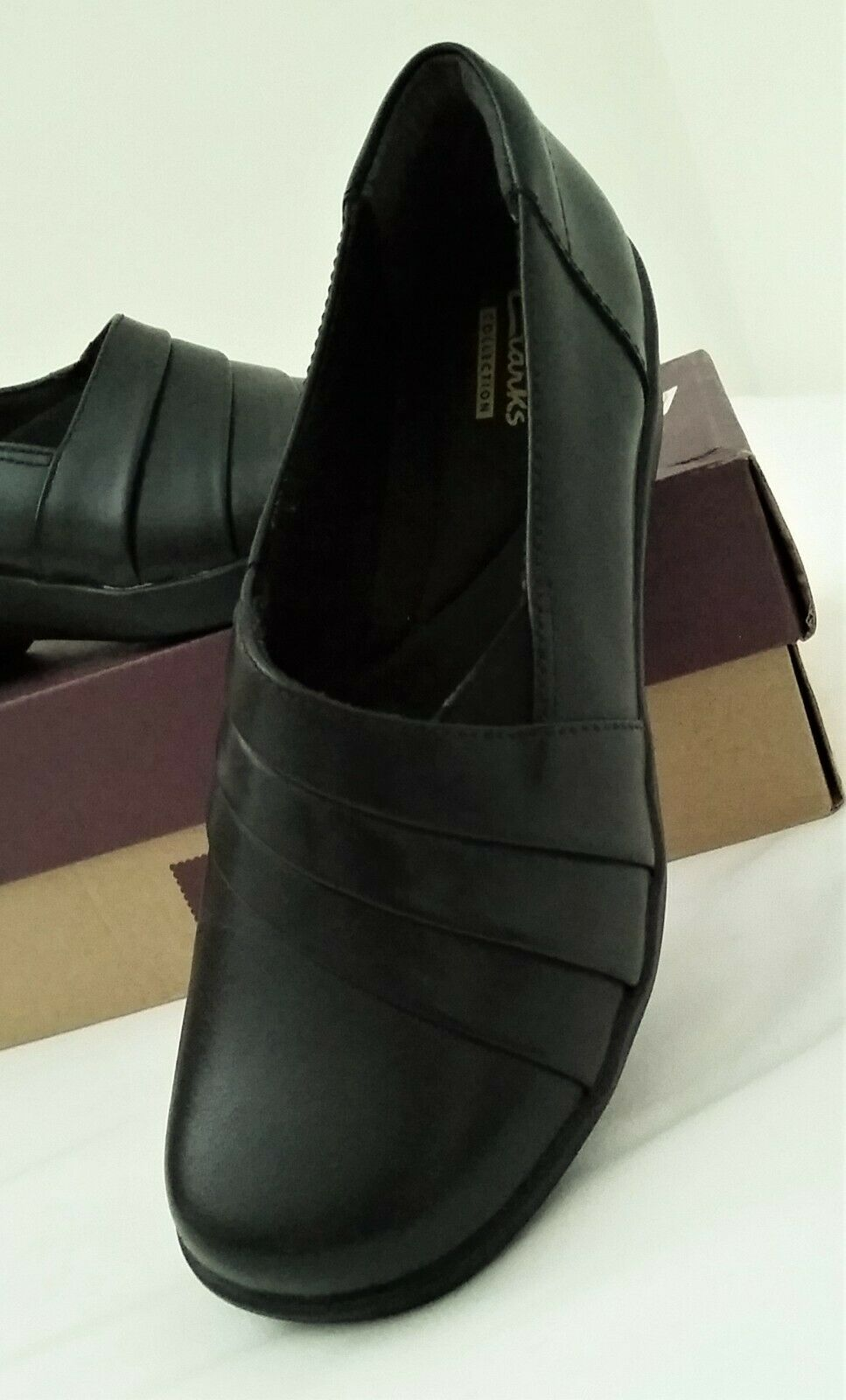Wish September parent  Clarks Womens Bombay Lights Leather Shoes Black Size 38 for sale online |  eBay