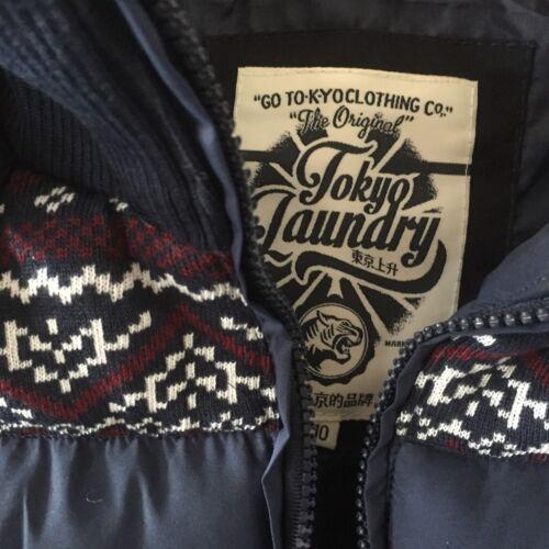 Tokyo Laundry Da Donna Blu in pelliccia sintetica con cappuccio Gilet Gilet Imbottito Taglia 10 Nuovi £ 15.99