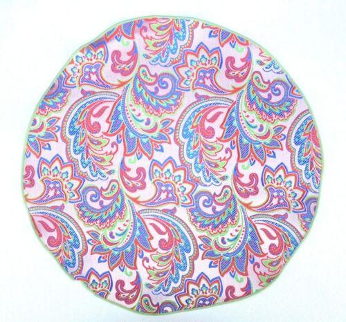 Lord R Colton Masterworks Pocket Round Vesuvio Pink Paisley Silk $75 Retail New
