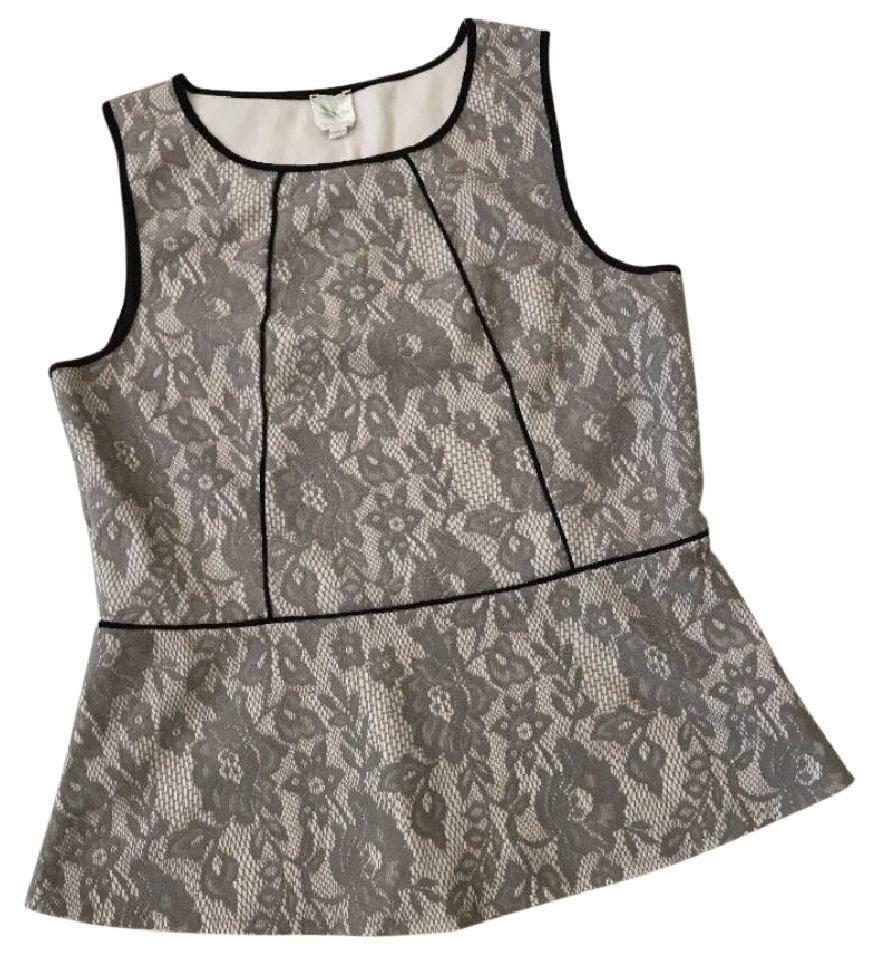 Anthropologie Piped Lace Tank Medium 6 8 Top Lace Weston Wear USA Fit + Flare
