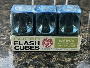 NEW-VINTAGE-3-pack-Flash-bulbs-cubes-GE-General-electric-12-flashes