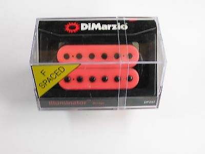 DiMarzio F-spaced Illuminator Bridge Humbucker Pink W/Black Poles DP 257
