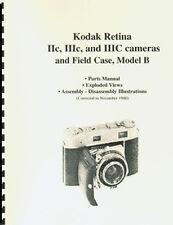 Kodak Retina IIc IIIc IIIC & Compur Shutter Parts Manual with Exploded Views