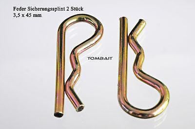 2 Stück Federstecker 2,8 x 42 mm Splinte Feder-Splint Federsplinte b31v