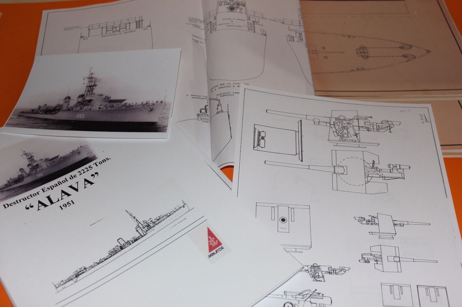 Plano Destructor español Álava modelismo naval