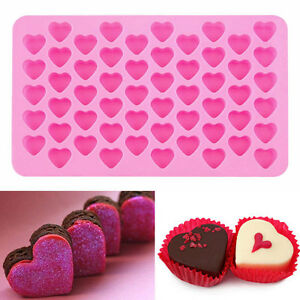 55-Heart-Silicone-Cake-Chocolate-Cookies-Baking-Mould-Ice-Cube-Mold-Soap-ASt