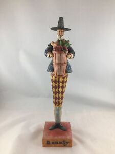 2004-Jim-Shore-Enesco-Heartwood-Creek-Statue-Bounty-Pilgrim-Man-Basket-117657