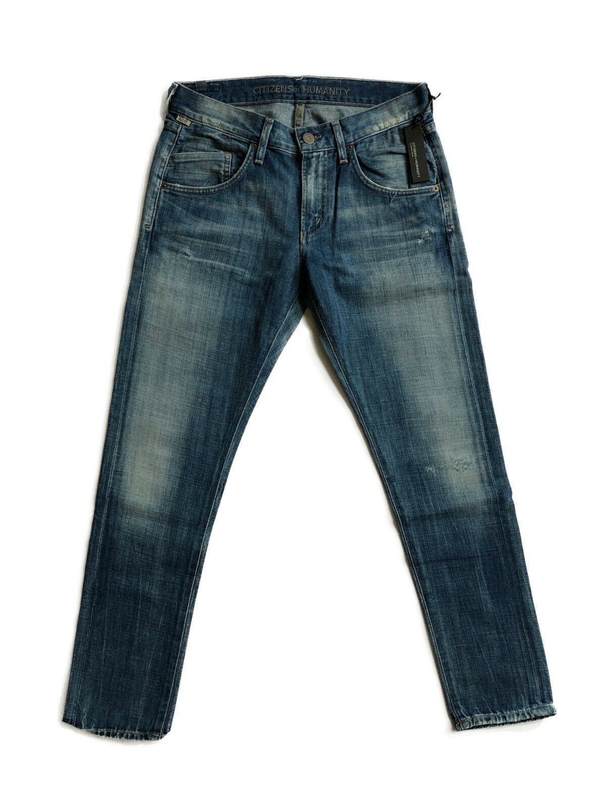 CITIZENS OF HUMANITY Cropped Lennox Slim Relaxed Jeans Circa bluee 24  198
