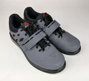2de837f9d97 Image is loading Reebok-Lifter-Pr-Cross-Trainer-Shoes-weightlifting-Ash-