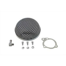 V-Twin Chrome Round Mesh Air Cleaner for S&S E Carbs Harley Models