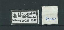 wbc. - GB STRIKE MAIL - SM640- RECORDED DELIVERY - LOCAL POST - one stamp