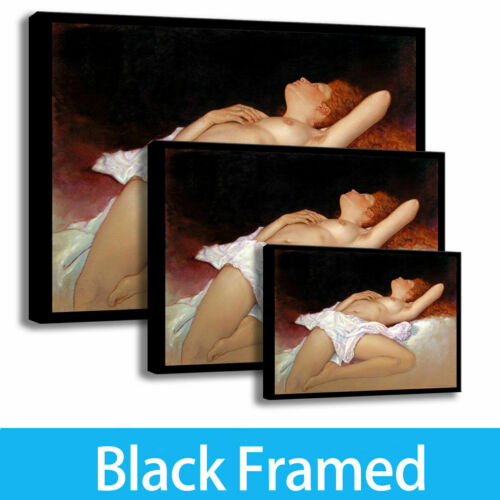 Framed! The Girl Sleeps Painting Home Decor  HD ART Print canvas