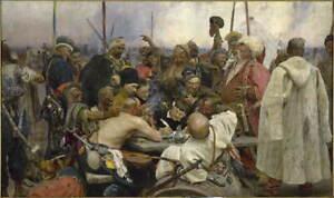 Ilya Repin Reply of the Zaporozhian Cossacks to Sultan Giclee Canvas Print