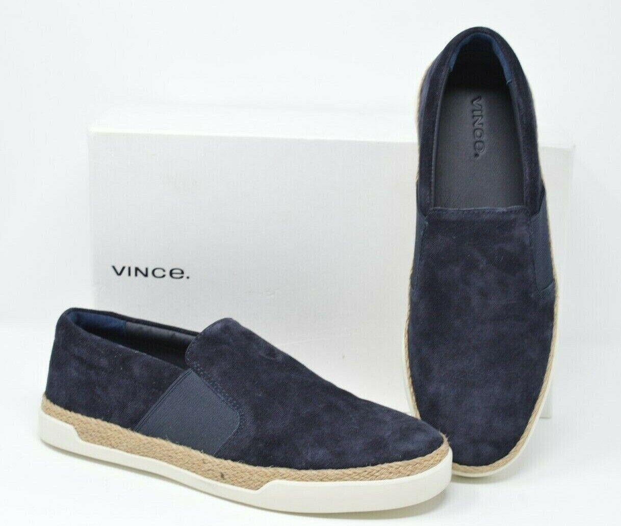 Vince Women's JOHAN Platform Slip On Fashion Sneakers Navy Suede Size 10 -  225