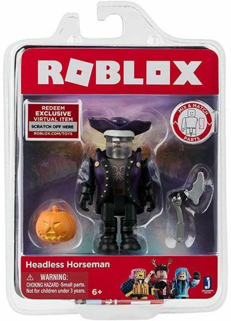 Roblox Headless Horseman Figure With Virtual Item Game Code For