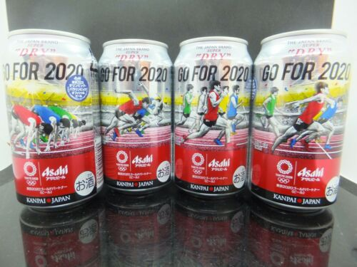 Empty Can Rare Limited ASAHI/<  GO FOR 2020 /> 100M on land design 350 can 4pcs