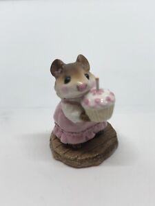 Wee Forest Folk, Birthday Girl, William Petersen, Pink, M-99, Retired, 1983