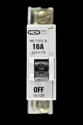 MEM QB TYPE B M6 5 16 20 32 40 AMP BS3871 MCB TRIP EATON CIRCUIT BREAKER