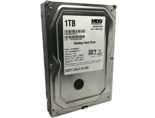 "MDD 1TB 64MB Cache SATA 6Gb//s 3.5/"" Desktop Hard Drive PC//Mac Surveillance NAS"