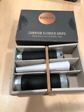 130mm New Brooks Slender Cambium Wrap Grips Slate
