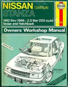 1982 1983 1984 1985 1986 nissan stanza repair manual by haynes ebay rh ebay ie Vehicle Repair Manuals Haynes Repair Manual Online View